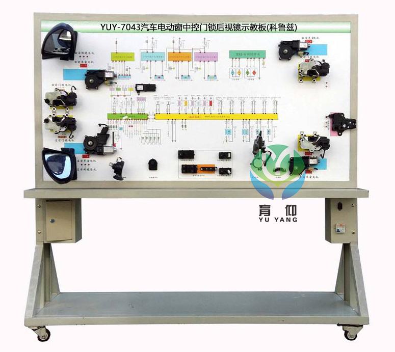 可直接在面板上检测汽车电动窗,中控门锁及后视镜系统各电路元件的